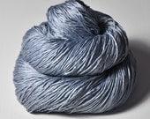 Blue Platinum - Silk Fingering Yarn