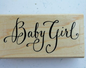 Baby Girl Shower rubber stamp