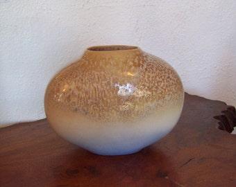 Stunning Flowing Unusual Glaze Porcelain Vase signed Thieberger