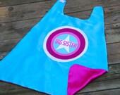 Big Sister SUPERHERO Cape - Big sister gift - Little Sister gift - Big brother gift - Little brother gift - sibling gift