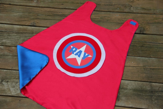 BOYS CAPTAIN AMERICA Style Superhero Cape
