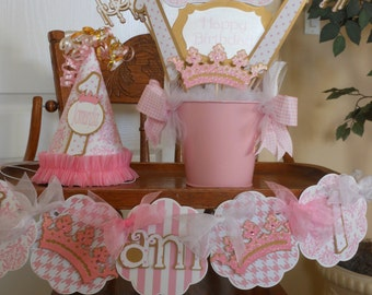 Princess Pink and Gold Ultimate Party Package birthday baby shower tiara banner