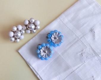 Vintage Clip on Earrings - Set of Two - Coro Clip on Earrings