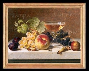 Fruit Still Life Miniature Dollhouse Art Picture 1614