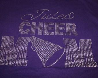 Personalized Cheer Mom Shirt, Bling Cheer Shirt, Cheer Mom Tank, Cheer Mom Shirt, Cheer Bling, Cheerleader Mom Shirt, Womens Cheer Shirt