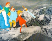 The Sword and Stone Goes to Mt. Everest - Original Collage