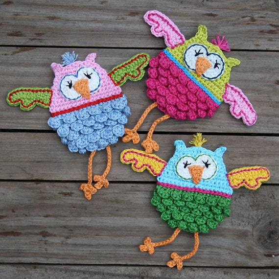 OLWBERTA - Owl Crochet Pattern (Applique) PDF