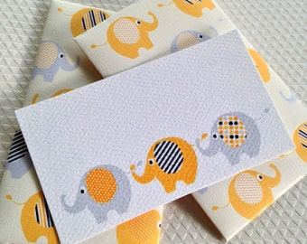 Baby Gift Enclosure Card, Mini Cards and Envelopes, Gift Card Holder, Set of 10