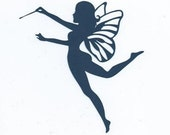 Fairy with wand 2 silhouette