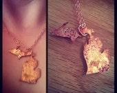 Copper Michigan Necklace