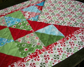 Christmas Table Runner Kate Spain Flurry Winter Holiday