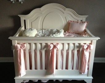OVERSIZED CRIB BOWS-Crib Sash Separates-Washed Linen Crib Sashes-Large Crib Bows