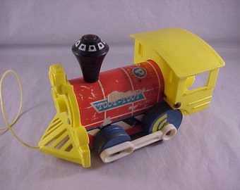 1964 Fisher Price 643 Toot-Toot Locomotive Train Pull Toy