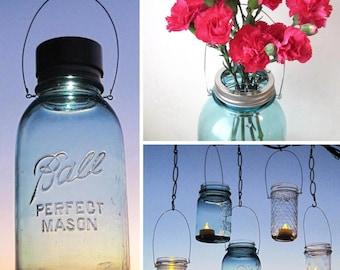 Mason Jar Accessory Variety Pack, Solar Light Lid, Flower Frog Lid, and DIY Jar Hanger, 3 Jar Accessories, No Jars
