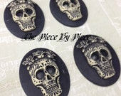 4 PIece Cameo: Day of The Dead Skull