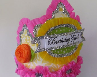 Birthday  Crown/Hat  BIRTHDAY GIRL  or customize-  Adult or Child