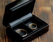 For Pale Fish Customers Only- Ring Box - Black Single or Double Wooden Ring Box, G001
