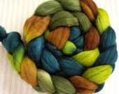 """BFL/Silk Combed Top 4 Oz. """"Spruce Forest"""""""