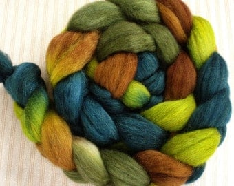 "Our Special Blend BFL/Silk (85/15) Combed Top 4 Oz. ""Spruce Forest"""