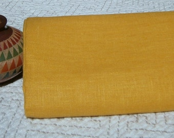 Pure LINEN Mustard Yellow ecofriendly fabric sewing supplies home decor from MyGypsyCottage on Etsy
