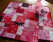 DISCOUNTED Valentine Hodge Podge 27 inch quilted table topper
