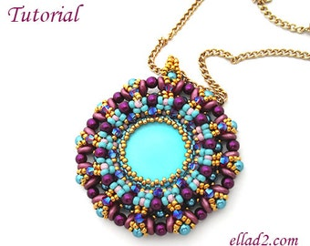 Tutorial Candy Pendant - Instant download, PDF, Beading tutorial, Beading Patterns, Jewelry Tutorial