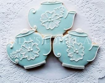 Vintage Wedgewood Teapot Cookies ( 1 Dozen)