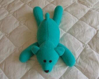 Lying Bear - turquoise