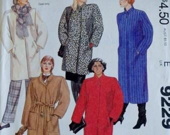 Vintage McCalls 9229 -- 80s Coat and Belt -- XS