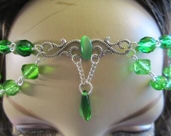 Viridian Circlet of the Elven Warrior Druid Celtic Renaissance Cosplay Bridal Priestess
