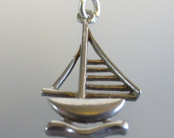 SAIL BOAT Sterling Silver Charm or Pendant