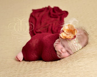 Red Stretch Knit Wrap Newborn Photography Prop