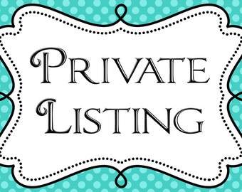 Private listing For Marsha