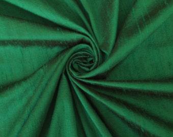 Emerald Green 100% Dupioni Silk Fabric Wholesale Roll/ Bolt