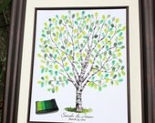 Wedding tree guest book guestbook alternative poster, guestbook tree, thumbprint wedding tree guestbook fingerprint tree with ink pad print
