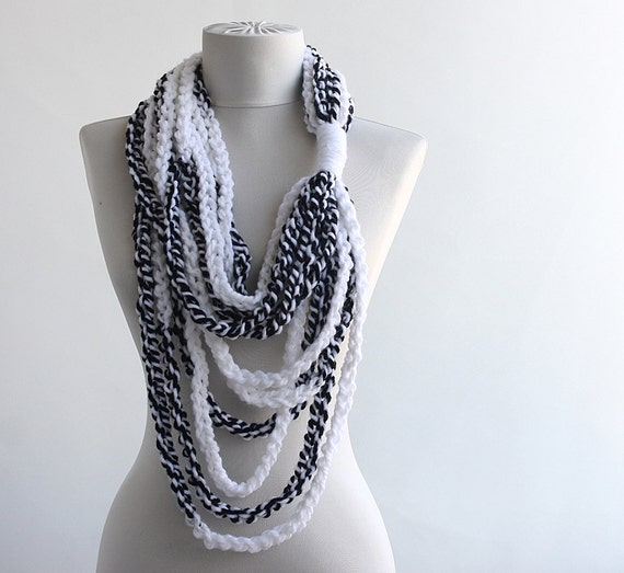 black friday cyber monday black and white infinity scarves