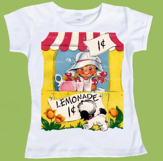 Lemonade Stand,  Personalized T-SHIRT, One Piece Baby, Tank or Tee by ChiTownBoutique.etsy