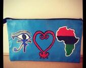 Eye Love Afrika Hand painted clutch