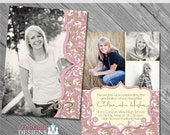 INSTANT DOWNLOAD Camouflaged Senior Graduation Announcement No. 2- custom photo templates for photographers