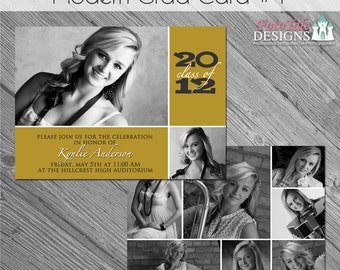 INSTANT DOWNLOAD Modern Grad Card 1- custom photo templates for photographers on WHCC and ProDigitalPhotos Specs