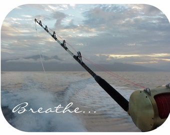 Mouse Pad - Maui Deep Sea Fishing - Breathe