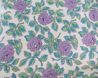 Vintage Feedsack Fabric-Purple Flowers-Full Sack