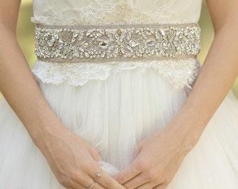 Crystal bridal belt, Wedding dress belt, Lace bridal sash, Crystal Wedding sash, Crystal sashes belts, Luxury Sash Belt, Vintage dress belt