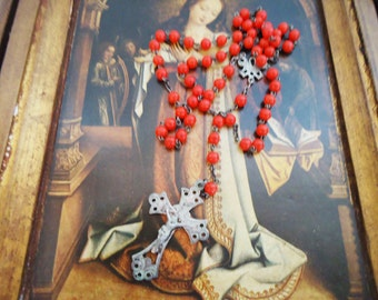 The Red Cased Rosary. 70s.