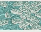 Boats 18 x 24