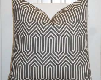 Decorative Pillow Cover  - Steel Grey - Trellis Pillow - Lattice - Geometric - Sofa Pillow - cushion Cover - Modern Design