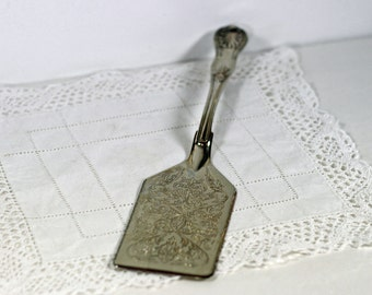 Vintage Silver Plate Ornate Server Lasagne Server Pie or Cake Server Desert Spatula