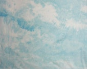173 - Blue sky hand dyed cotton fabric