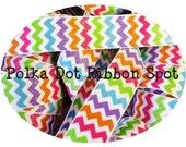Birthday Chevron Glitter ribbon 5 yards- 7/8 inch ribbon from our new Birthday Girl Collection US designer ribbon