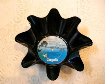 Pat Benatar Vinyl Record Bowl Made From Recycled Album